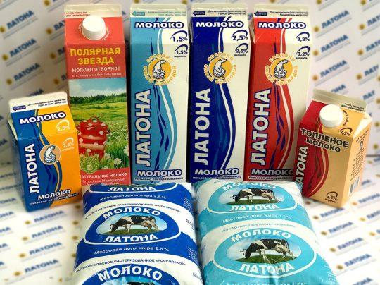 АО «Молочный завод» Молокопастеризованное «Латона»