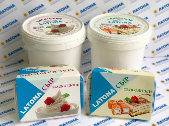 АО «Молочный завод» Сыр творожный Сливочный и Маскарпоне