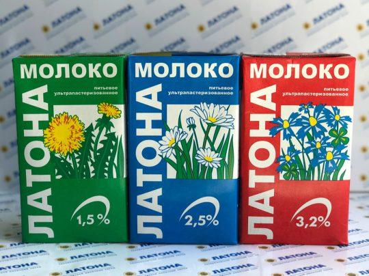 АО «Молочный завод» Молоко ультрапастеризованное «Латона»