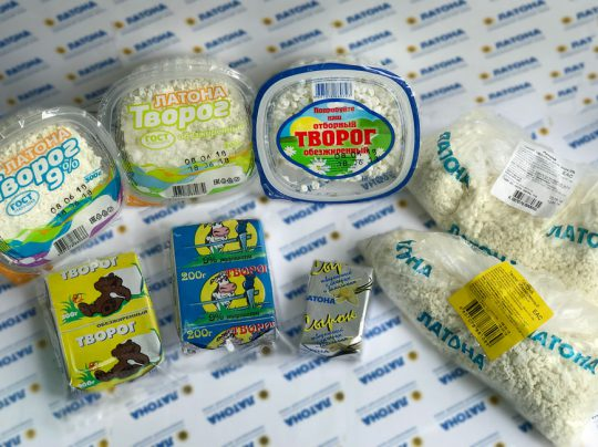 АО «Молочный завод» Творог «Латона»