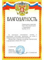 "Благодарность от ГОАУСОН ""КЦСОН ЗАТО г.Североморск"""